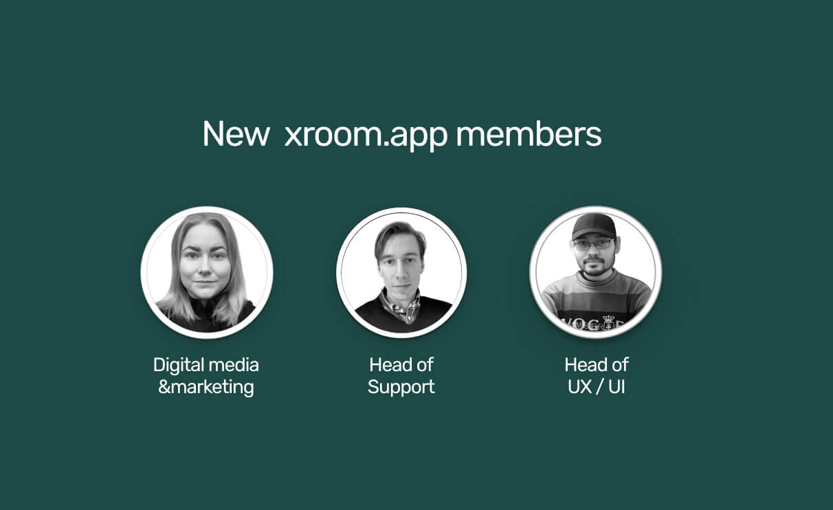 xroom.app's lean team is complete and ready!